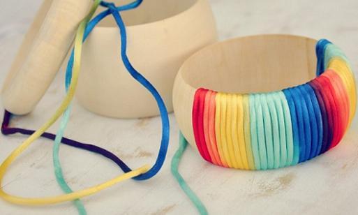 hacer brazaletes de hilo