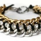 pulseras de cadena y strass