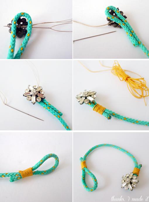 pulseras de cordones con abalorios 2