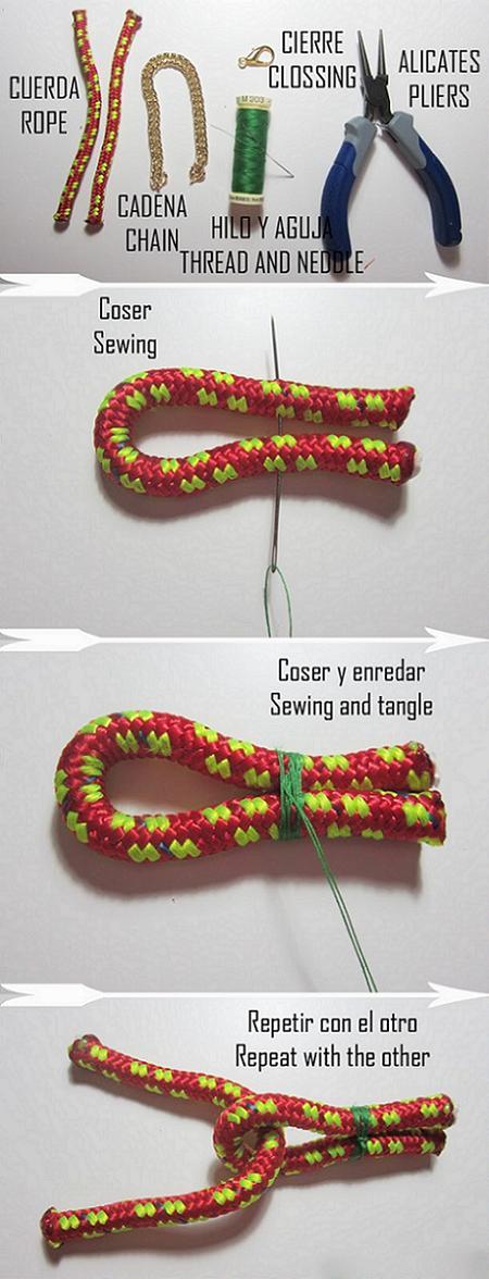 Cómo hacer pulseras de cordones y eslabones - Pulserasdiy