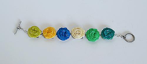 como hacer pulseras de flores diy