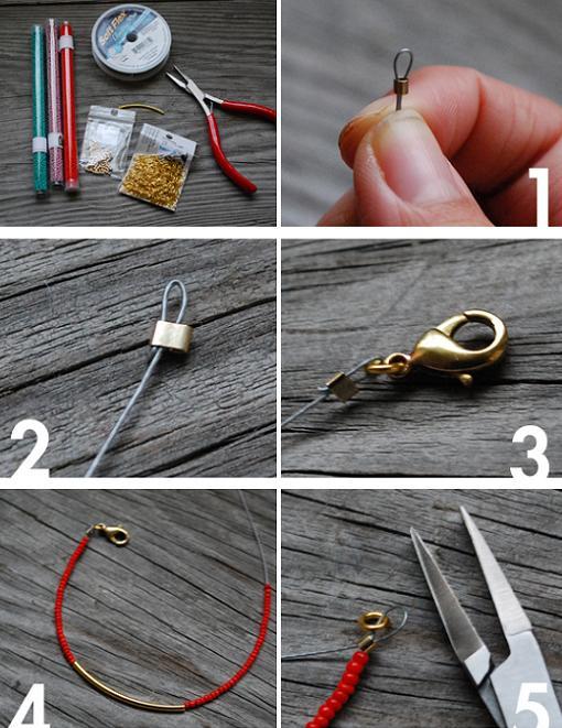 hacer-pulseras-de-hilo-de-alambre-y-bolitas-1