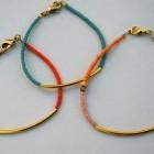hacer pulseras de hilo de alambre y bolitas
