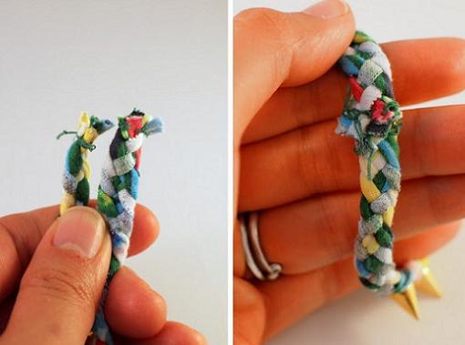 hacer pulseras de tela personalizadas