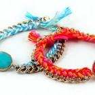 pulseras con cadenas y hilos