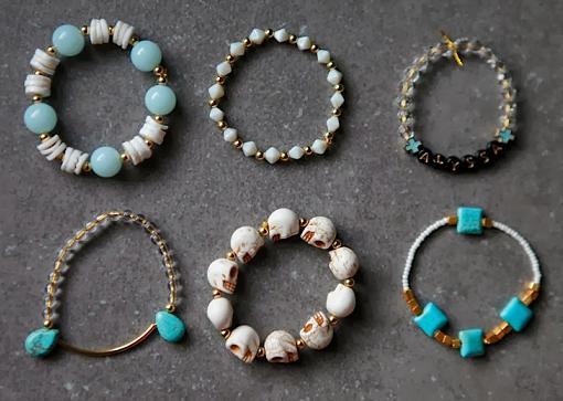 como hacer pulseras bonitas con abalorios diseños