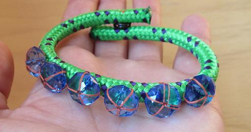 como hacer pulseras de moda con piedras