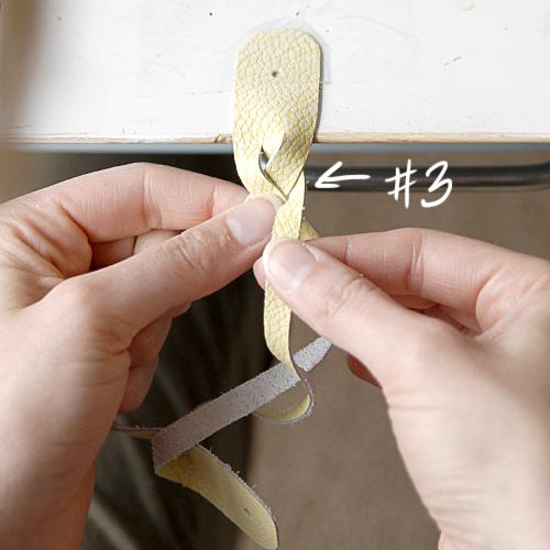 hacer pulseras de cuero trenzado