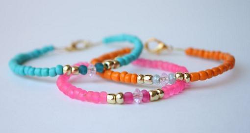 pulseras de bolitas de colores pulserasdiy