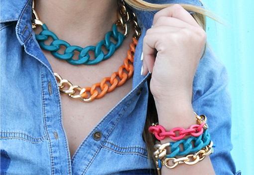 Cómo hacer pulseras de moda con cadenas